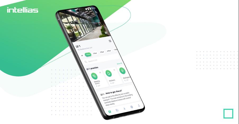 Smartphone displaying navigation app
