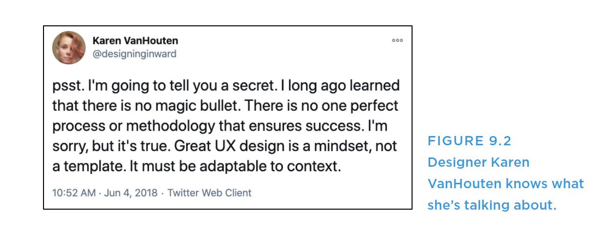 Tweet screenshot from conversational designer