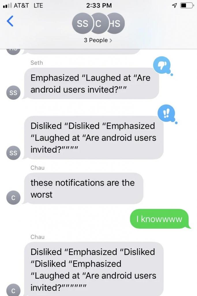 Apple messages screenshot